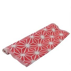 4' x 6' Basic Luxury Dark Pink and White Snowflake Design Outdoor Area Throw Rug
