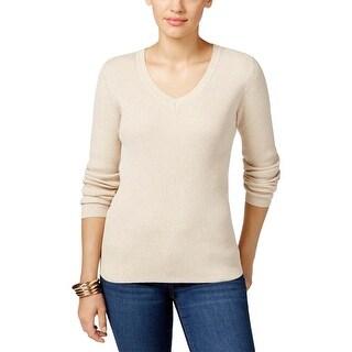 Karen Scott Womens Pullover Sweater Knit V-Neck