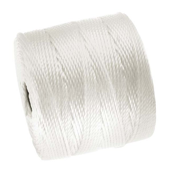 BeadSmith Super-Lon (S-Lon) Cord - Size 18 Twisted Nylon - White / 77 Yard Spool