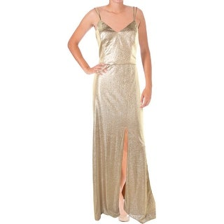 ABS Collection Womens Metallic Prom Evening Dress