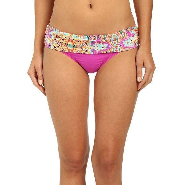 Athena Pink Women Size 16 Spice Market Banded Bikini Bottom Swimwear
