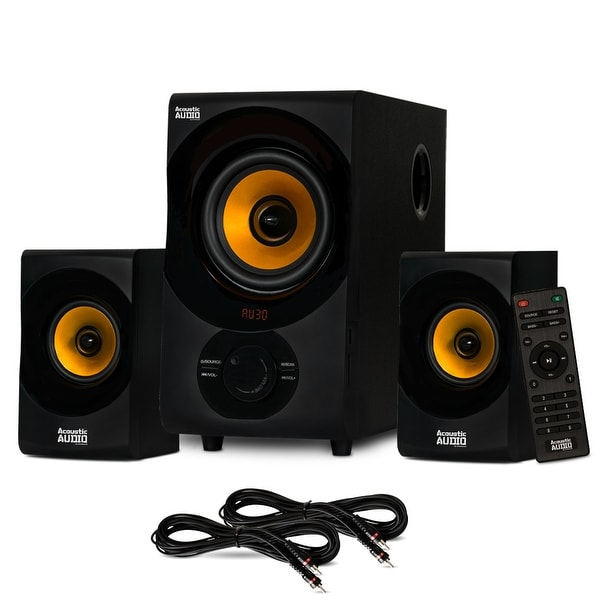 Acoustic Audio Bluetooth 2.1 Speaker System with 2 Extension Cables for Laptop. Opens flyout.