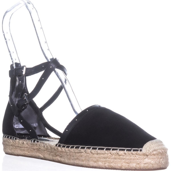 Rebecca Minkoff Gina Ankle Strap Espadrilles, Black - 11 us