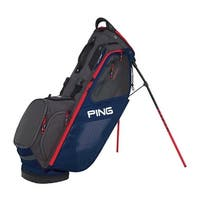 New Ping 2018 Hoofer 14 Golf Stand Bag (Navy / Graphite / Red) - navy / graphite / red
