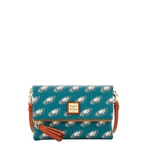 Dooney & Bourke NFL Philadelphia Eagles Foldover Crossbody Shoulder Bag (Introduced by Dooney & Bourke at $158 in Sep 2017)