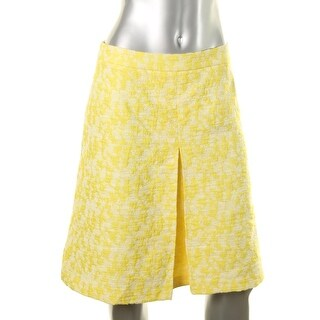 Vince Camuto Womens Jacquard Pleated A-Line Skirt - 12
