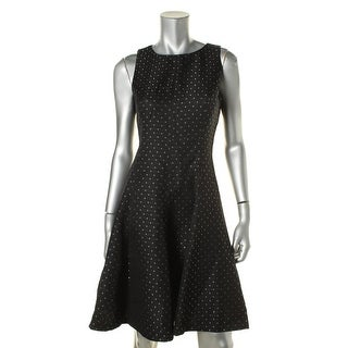 American Living Womens Pindot Sleeveless Wear to Work Dress