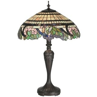 Meyda Tiffany 99725 Tiffany Three Light Up Lighting Table Lamp from the Grapevine Collection - n/a