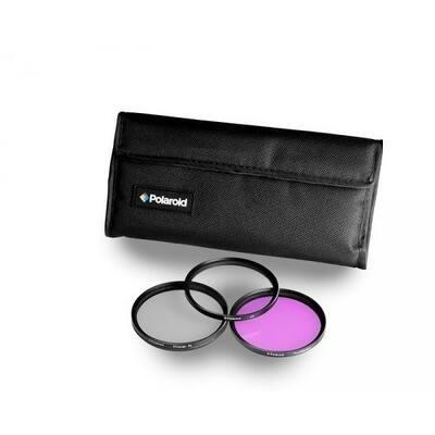 Polaroid Optics 72mm 3 Piece Camera Lens Circular Filter Set (UV, CPL, FLD)