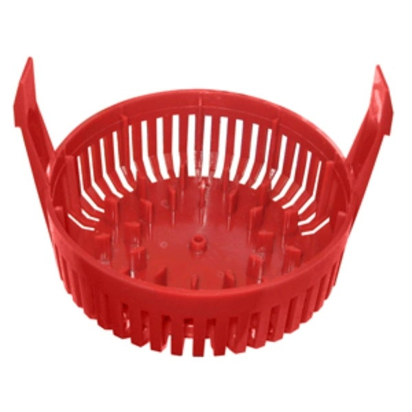 """8"""" Red Round Marine Pump Replacement Strainer Base. Opens flyout."""