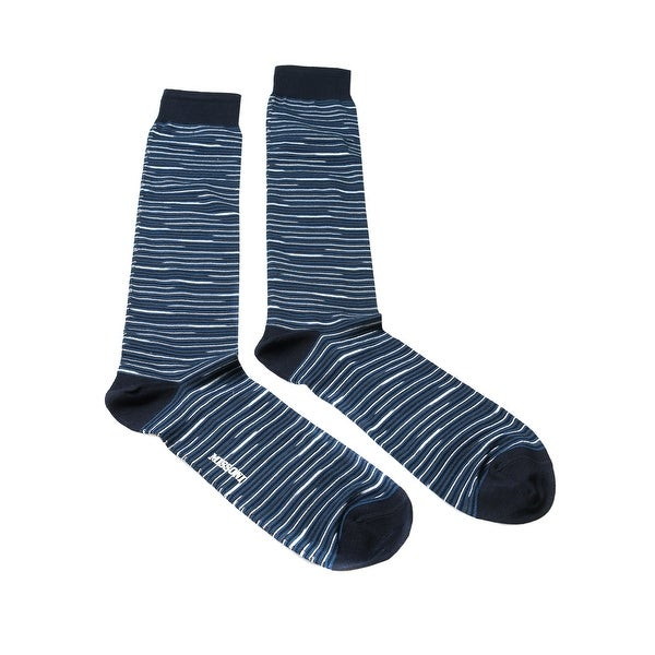 Missoni GM00CMU5231 0004 Blue/White Knee Length Socks