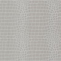 Brewster 450-67379 Croc Silver Crocodile Wallpaper - silver crocodile - N/A