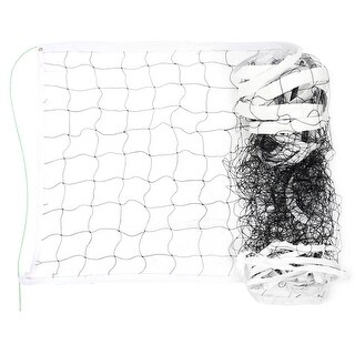 Outdoor Stadium Nylon White Trim Black Braided Knotted Sports Volleyball Net
