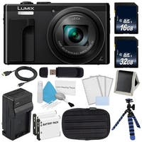 Panasonic LUMIX 4K DMC-ZS60 Digital Camera (Black) (International Model) No Warranty + Small Case + Charger Bundle