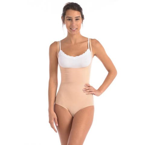 Body Beautiful Bodysuit with Targeted Front Panel