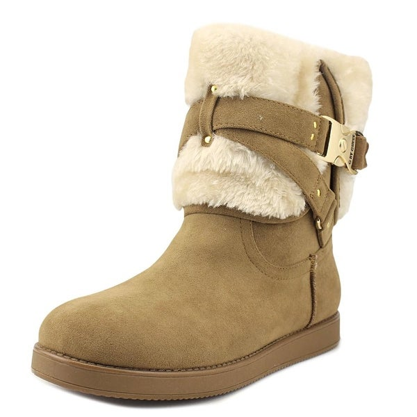G By Guess Ashlee Women Round Toe Canvas Brown Winter Boot