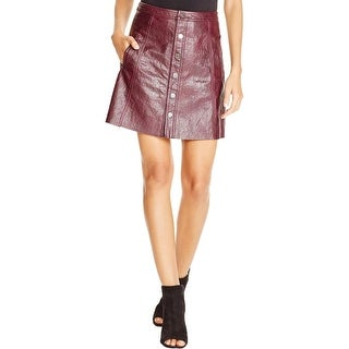 [BLANKNYC] Womens A-Line Skirt Faux Leather Lined