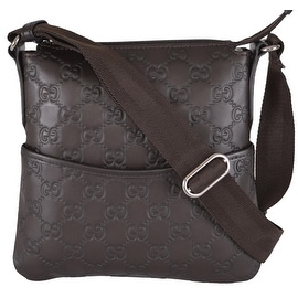NEW Gucci 374416 MINI Brown Leather GG Guccissima Crossbody Day Purse Bag