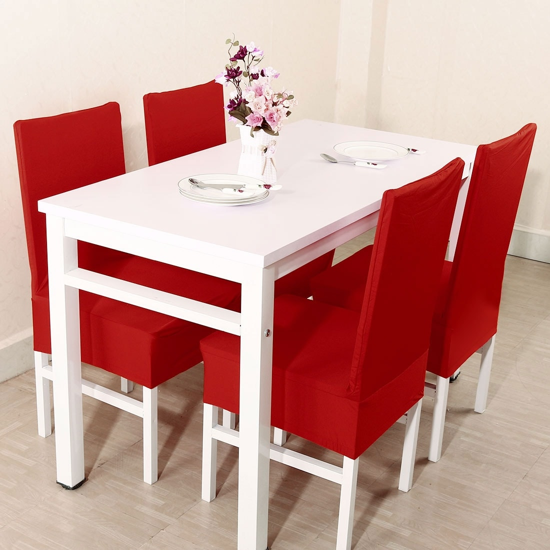 Stupendous Unique Bargains Red Spandex Stretch Washable Dining Chair Cover Gmtry Best Dining Table And Chair Ideas Images Gmtryco