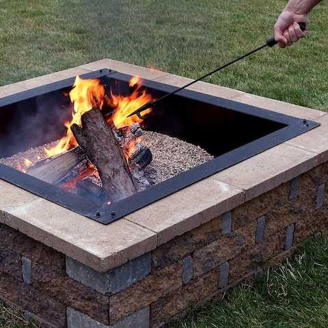Sunnydaze Large Fire Pit Poker for Logs Firewood Fire Pit BBQs - 27-Inch Long - Black Black
