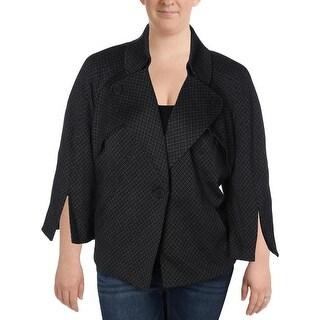 Nine West Womens Plus Jacket Knit Printed