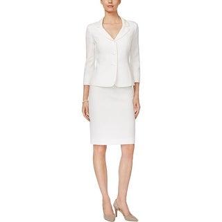 Le Suit Womens Skirt Suit 2PC Jacquard