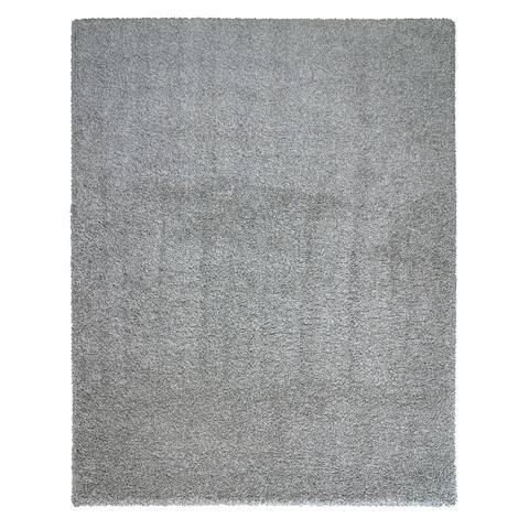 "Luxury Smoke Gray Area Rug (5'3""x 7'5"") by Laura Ashley - 5' x 8'/Surplus"
