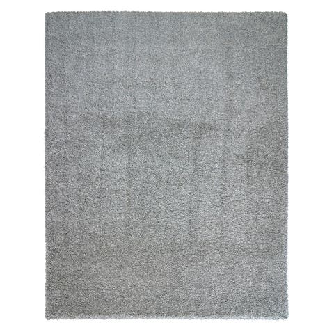 "Luxury Smoke Gray Area Rug (7'10""x10') by Laura Ashley - 8' x 10'/Surplus"