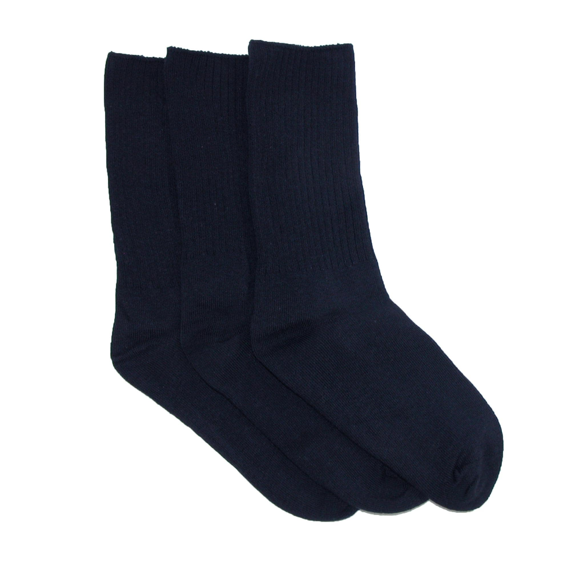 Jefferies Socks Girls Casual Cotton Multi Pack Crew School Dress Socks 3 Pair Pack