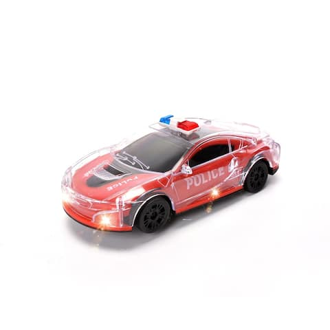 WonderPlay BO Police Car with Light & Music - Red