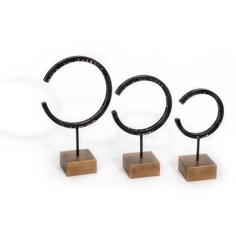 Cormac (Set/3) Metal Sculptures - 12 x 5 x 19