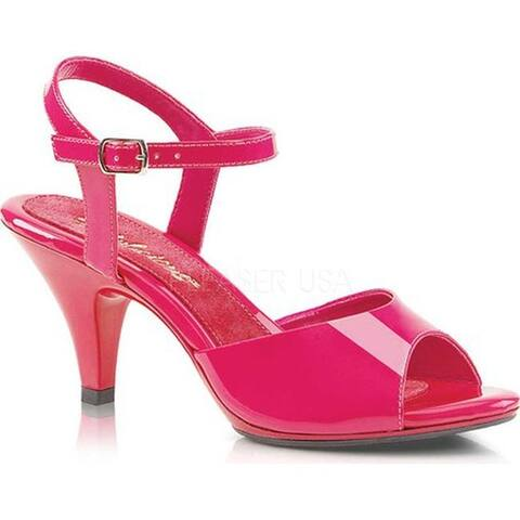Fabulicious Women's Belle 309 Ankle-Strap Sandal Hot Pink Patent/Hot Pink