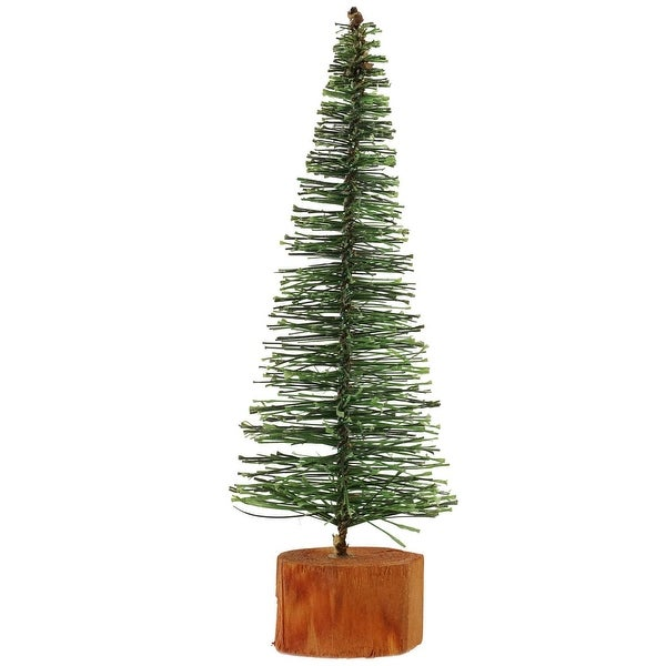 "7"" Green Bottle Brush Artificial Mini Pine Christmas Tree"
