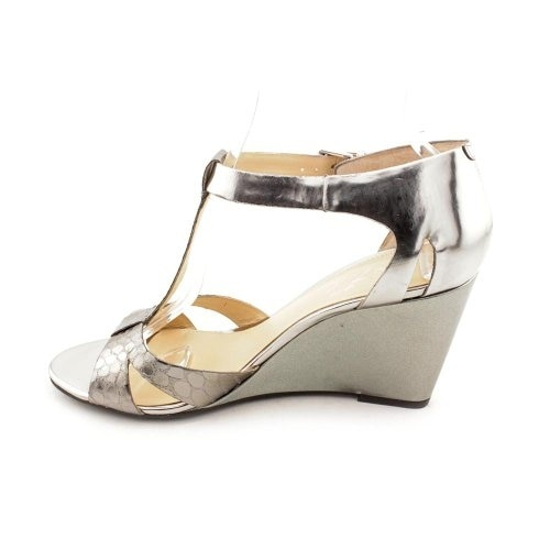 Marc Fisher Womens Bulan2 Open Toe Ankle Strap Wedge Pumps