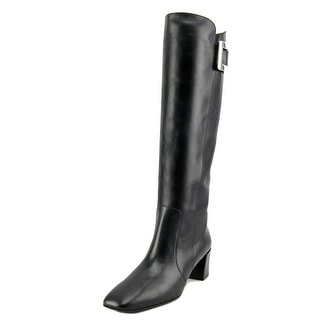 Roger Vivier Stivale T.45 Square Toe Leather Mid Calf Boot