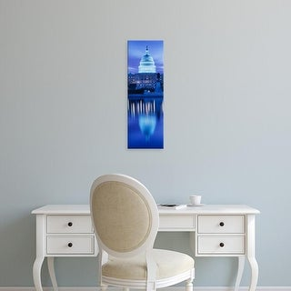 Easy Art Prints Panoramic Image 'Government building on water, Capitol Building, Washington DC' Canvas Art