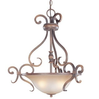 Classic Lighting 92233 Eagle Pointe 3 Light Large Pendant with Frosted Glass Shade