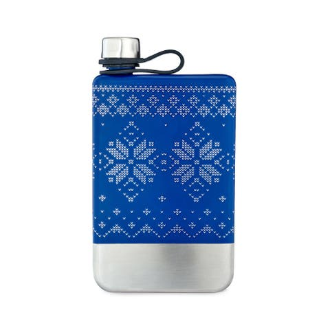 """Nordic Knit Flask by Foster and Rye - 6"""" x 3"""""""