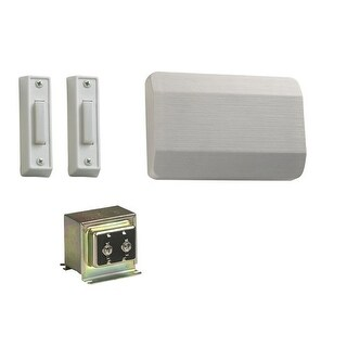Quorum International 101-2 Single Story / Front and Side Door Chime Kit with White Plastic Covers
