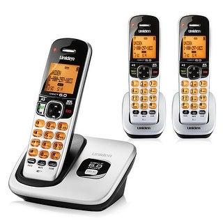 Uniden D1760-3 DECT 6.0 Expandable Cordless Phone w/ Caller ID, Silver, 3 Handsets