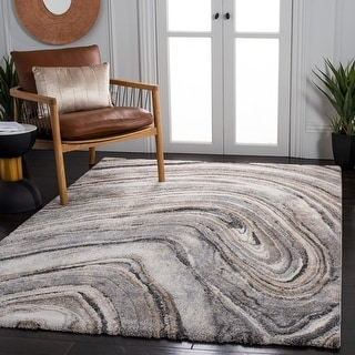 Link to Safavieh Cyrus Shag Rusmira Abstract 1-inch Thick Rug Similar Items in Rugs