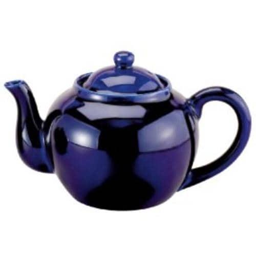 HIC NT-653C Porcelain Teapot, 75 Oz, Cobalt