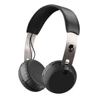 Skullcandy Grind Bluetooth Wireless On-Ear Headphones with Built-In Mic and Remote, Black/Chrome