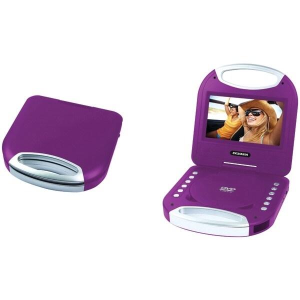 "Sylvania Sdvd7049-Purple 7"" Portable Dvd Player With Integrated Handle (Purple)"