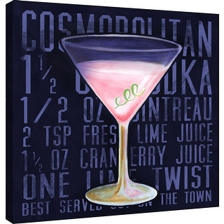 """PTM Images 9-100023  PTM Canvas Collection 12"""" x 12"""" - """"Cosmo (Square)"""" Giclee Liquor & Cocktails Art Print on Canvas"""