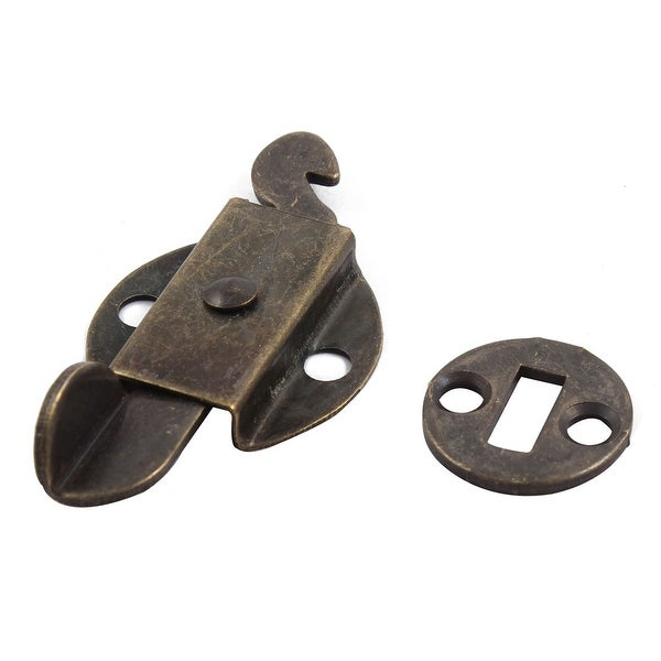 Case Gift Box Screw Mounting Toggle Latch Buckle Set Bronze Tone 63mm x 32mm