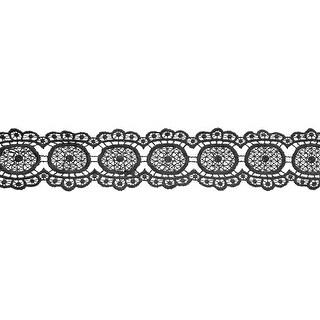 "Circular Venice Lace 2-1/4""X10yd-Black - Black"