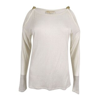 MICHAEL Michael Kors Women's Linen Blend Cold Shoulder Top