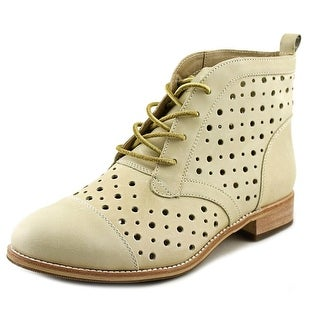 Caterpillar Janel Women Round Toe Leather Ivory Boot