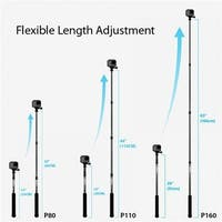 110 cm Light weight Aluminum pole for GoPro Camera, Dark Grey